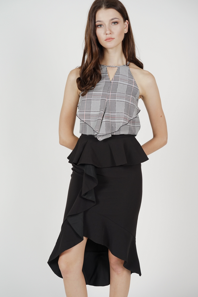 Leora Ruffled Skirt in Black - Arriving Soon