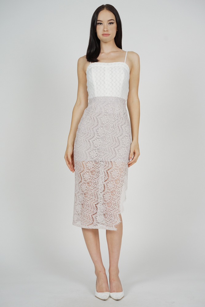 Dorcia Lace Skirt in Grey