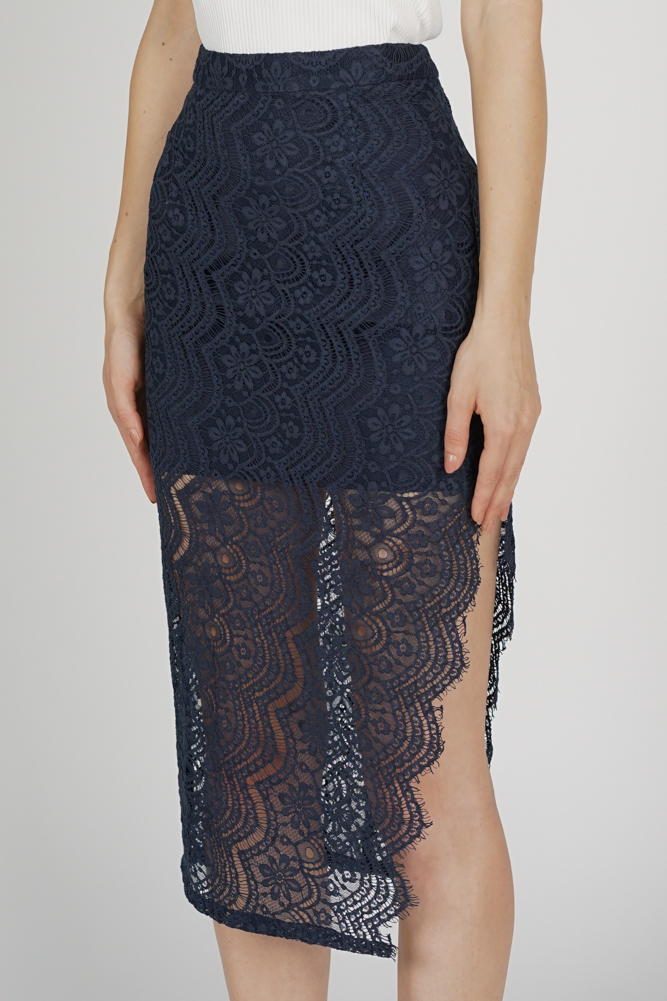 Dorcia Lace Skirt in Midnight - Arriving Soon