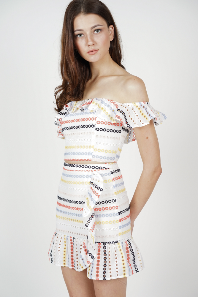 Maia Ruffled Skirt in Rainbow - Arriving Soon