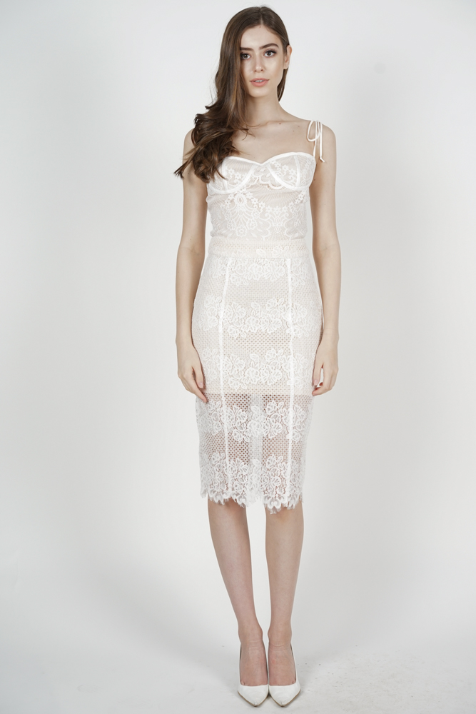 Julia Lace Skirt in White - Arriving Soon