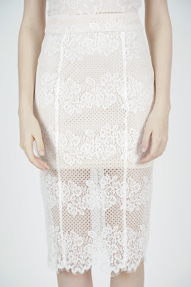 Julia Lace Skirt in White