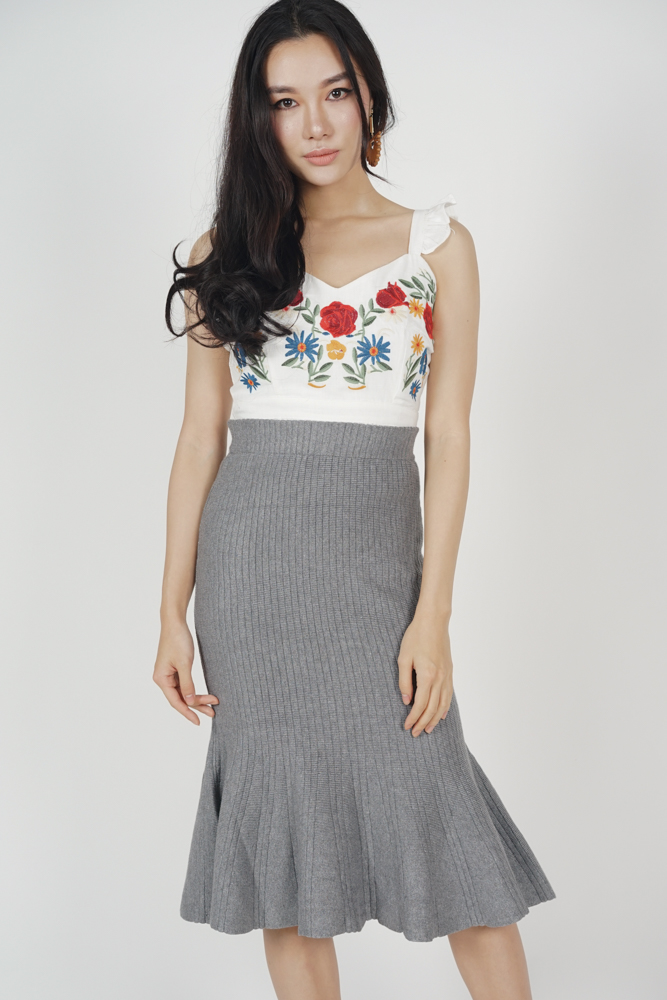 Melora Mermaid Skirt in Grey - Online Exclusive