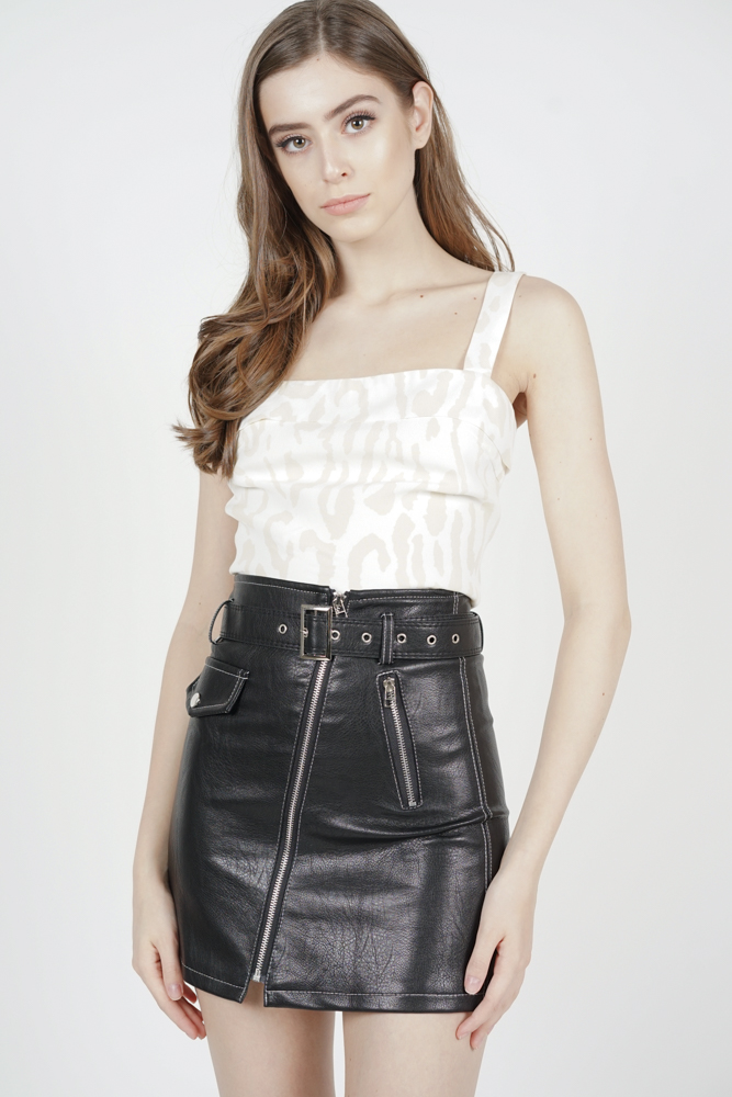 Eden Leather Skirt in Black - Arriving Soon