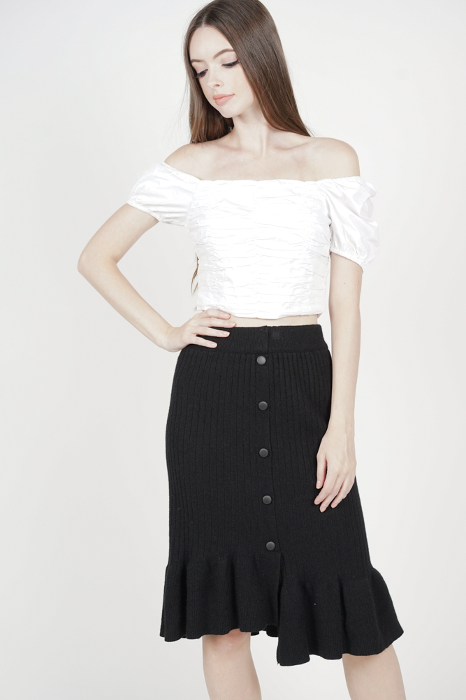 Elesta Ruffled Skirt in Black - Online Exclusive