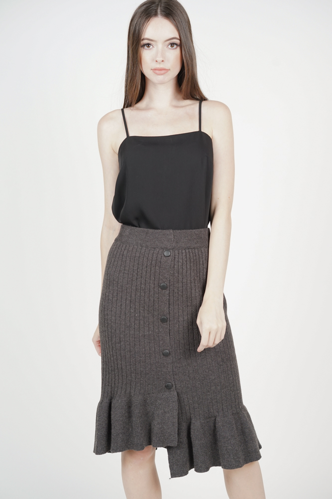 Elesta Ruffled Skirt in Grey - Online Exclusive