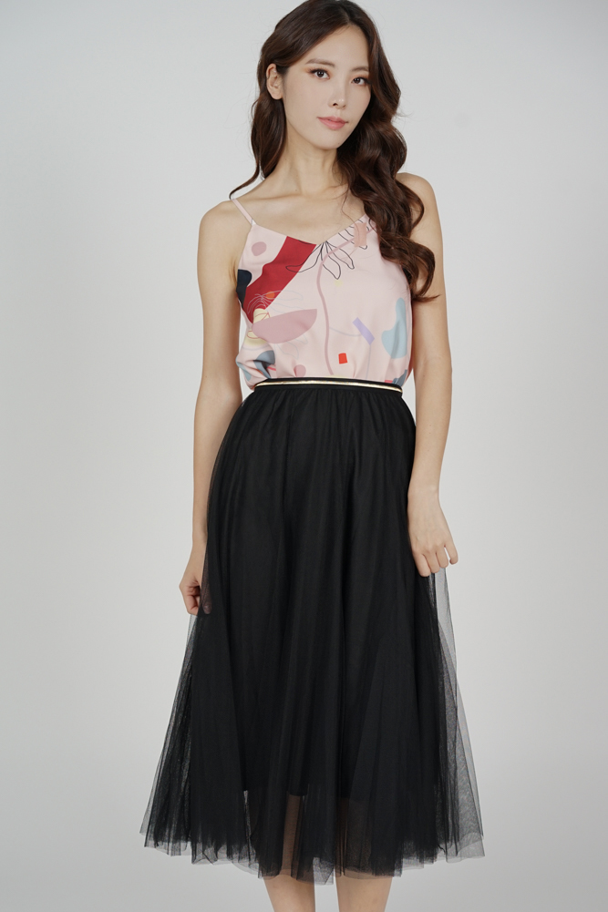 Malini Tulle Skirt in Black - Online Exclusive