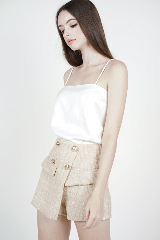 Adael Mini Skorts in Beige - Arriving Soon