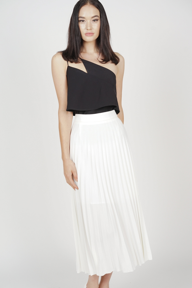 Jeska Pleated Skirt in Ivory