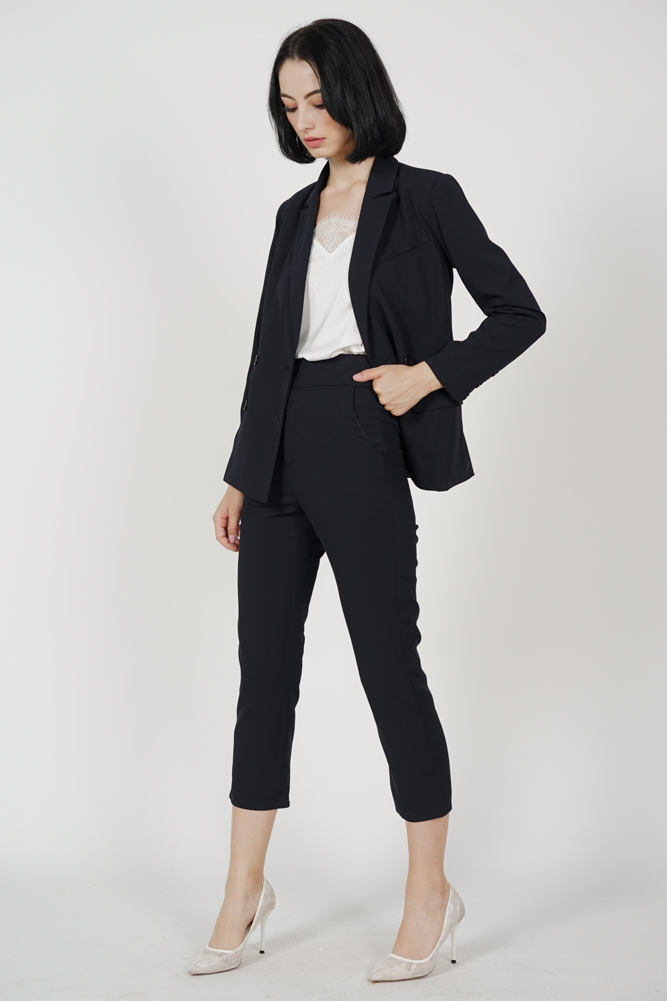 Gretchen Straight Pants in Midnight