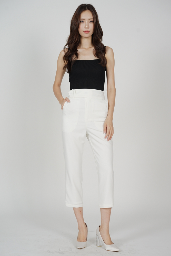 Gretchen Straight Pants in White