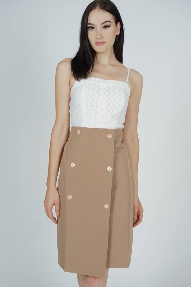 Malia Midi Skirt in Khaki - Online Exclusive