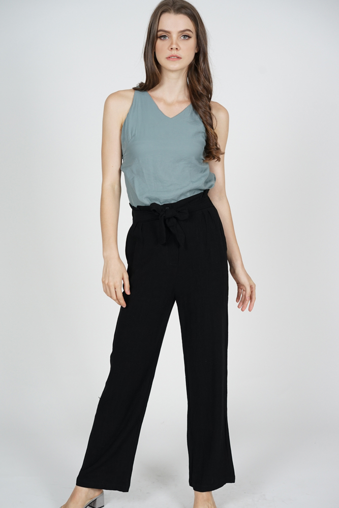 Briana Wide Leg Pants in Black - Online Exclusive