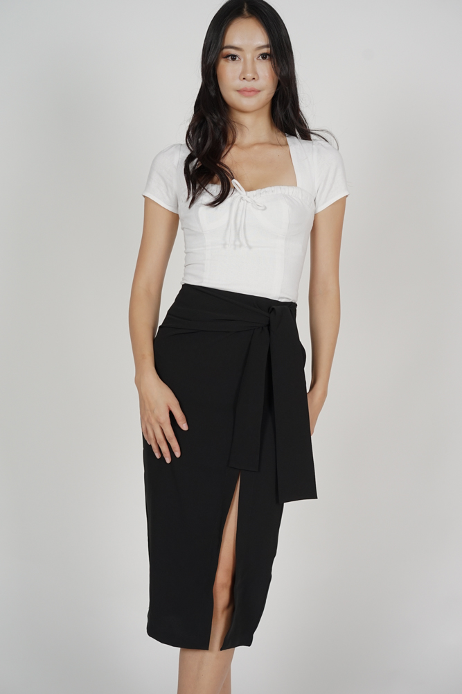 Ulva Slit Skirt in Black - Online Exclusive