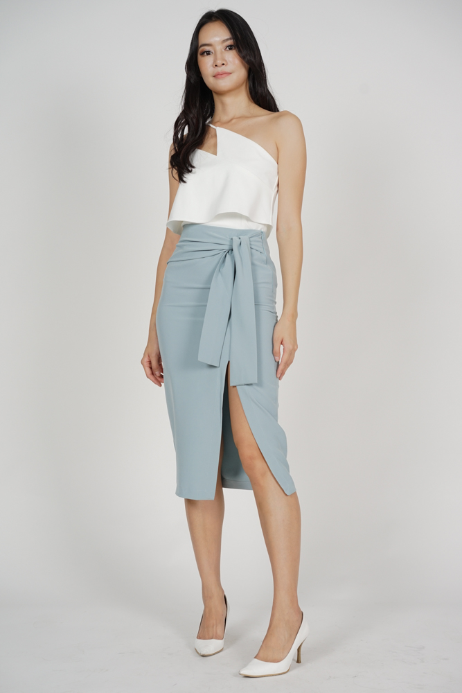 Ulva Slit Skirt in Light Blue - Arriving Soon