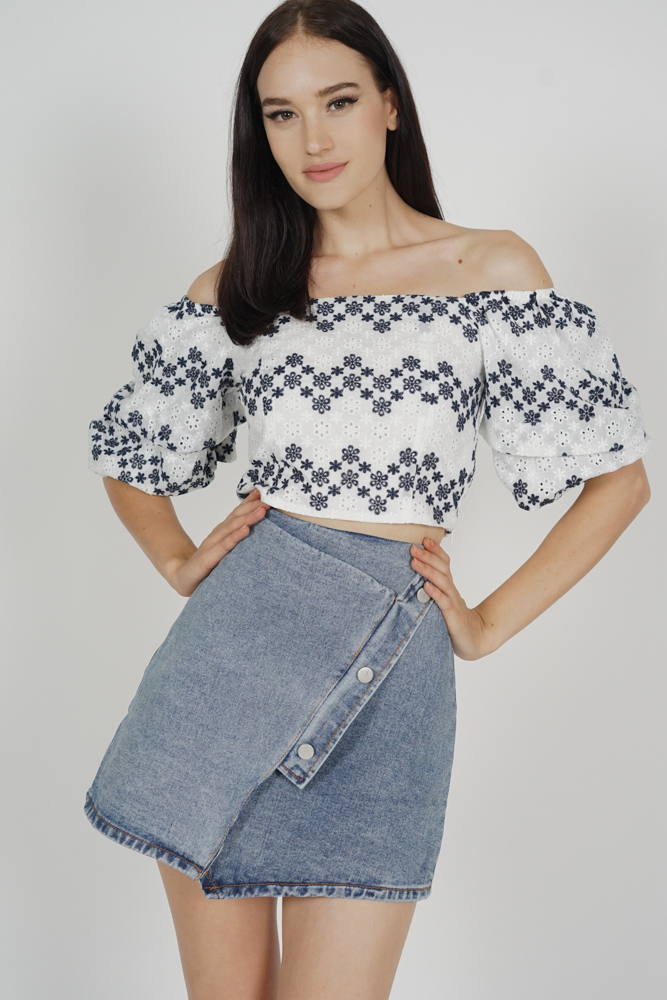 Dandy Denim Skirt in Blue - Online Exclusive