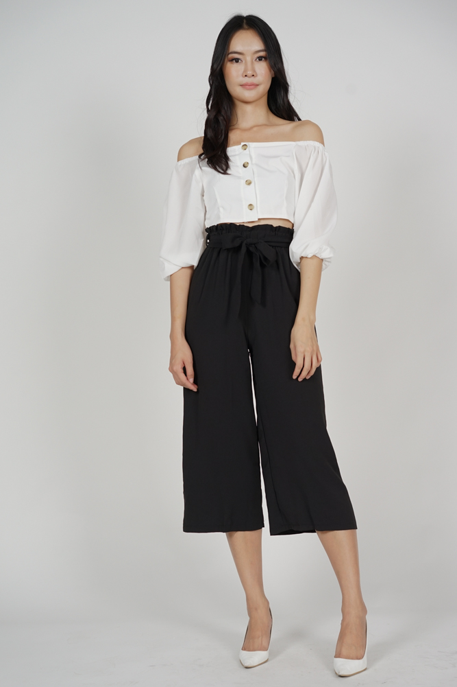 Zanda Wide Leg Pants in Black - Online Exclusive