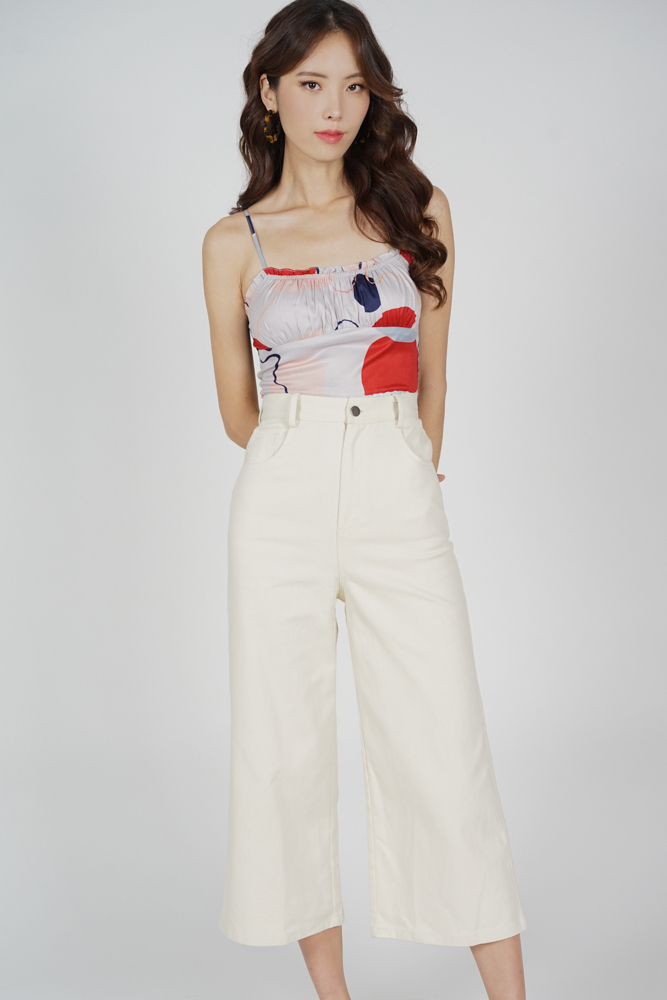 Arian Wide Leg Pants in Cream