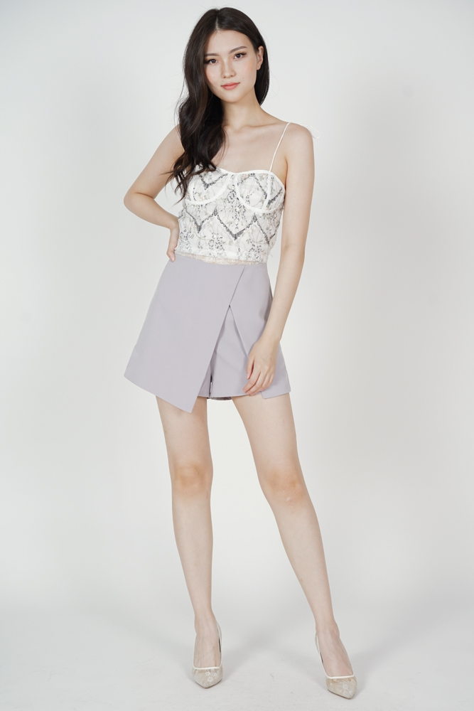 Ditsy Cutout Skorts in Lilac - Arriving Soon