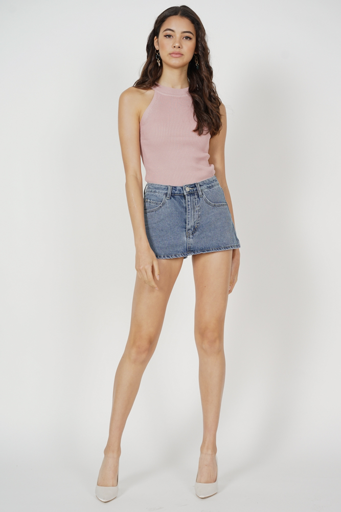 Miggie Denim Skorts in Blue - Arriving Soon