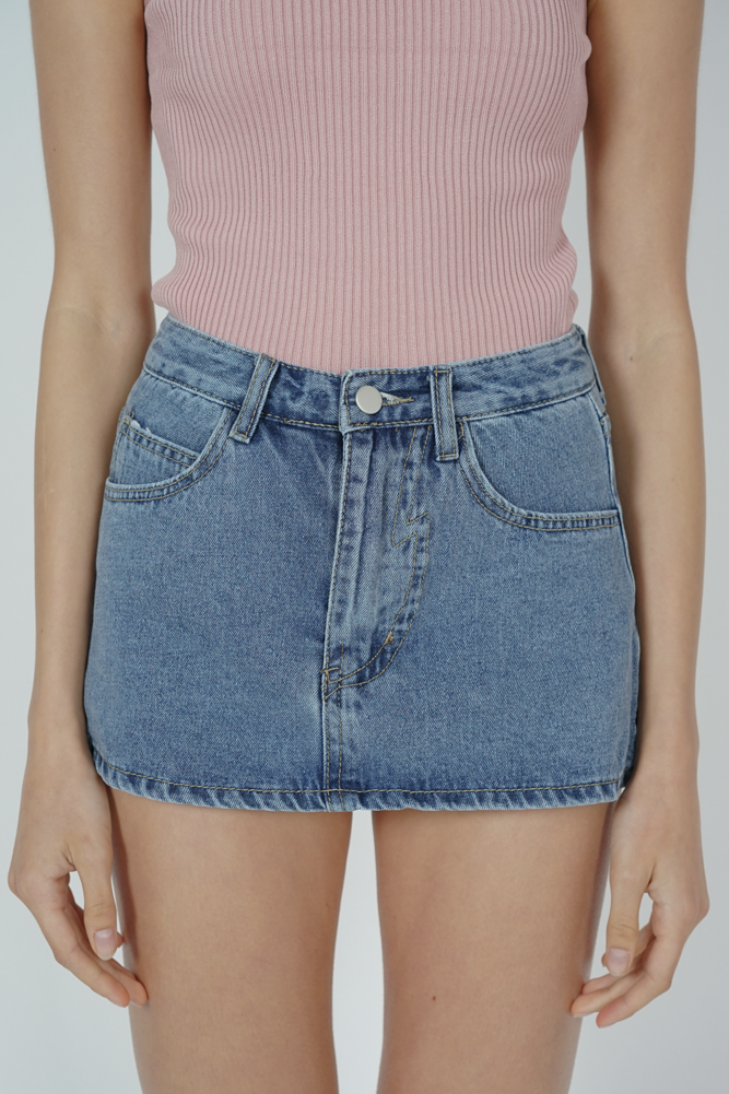 Miggie Denim Skorts in Blue