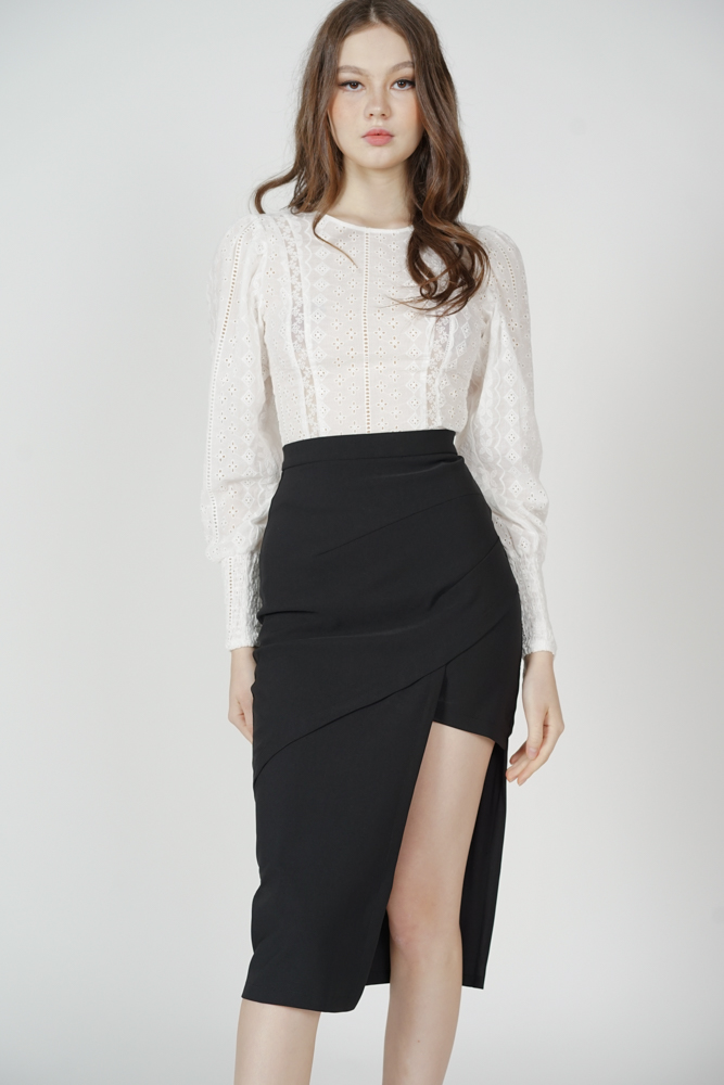 Hedy Cutout Skirt in Black - Arriving Soon