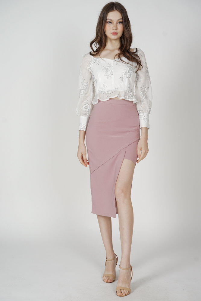 Hedy Cutout Skirt in Pink - Arriving Soon
