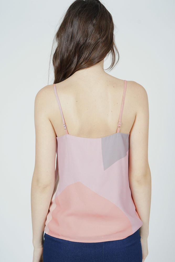Husa Cami Top in Pink Abstract
