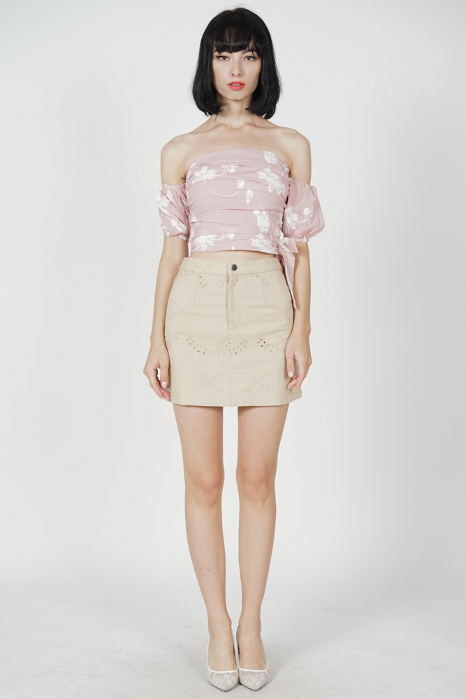 Aidel Mini Skirt in Khaki