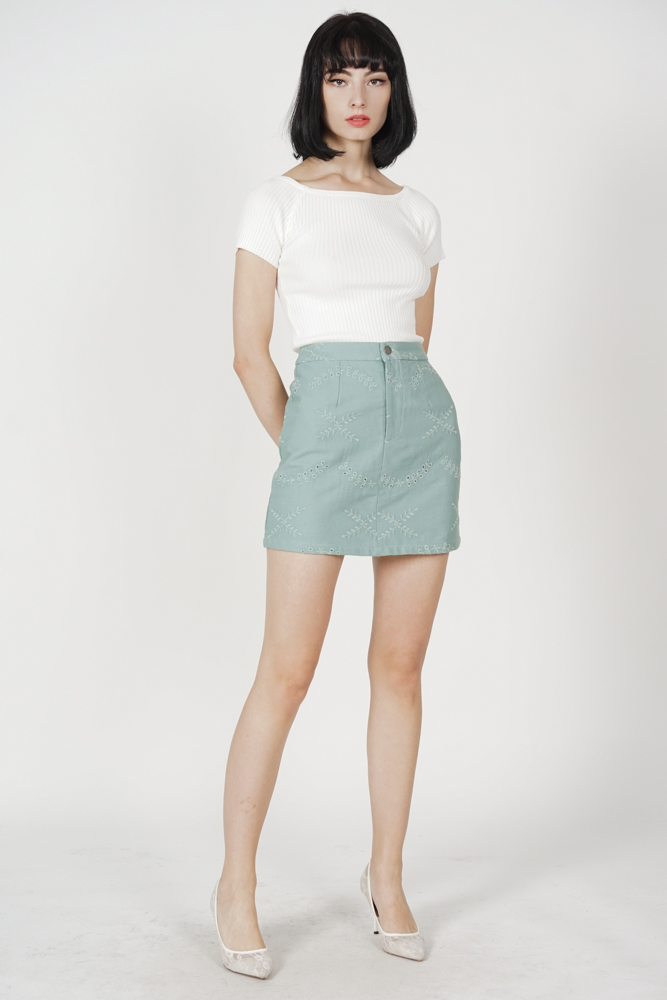 Aidel Mini Skirt in Mint
