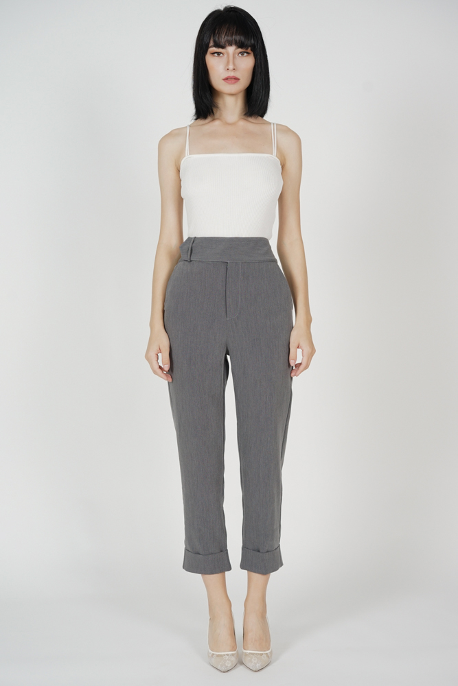 Zakari Straight Pants in Grey - Arriving Soon