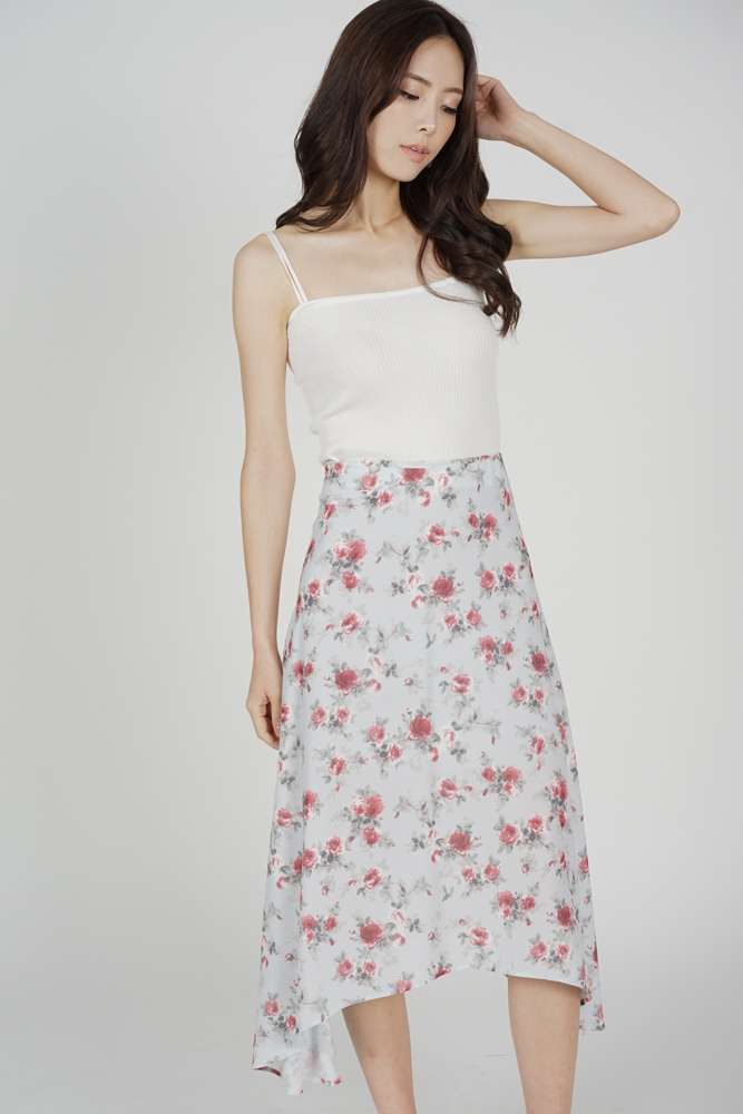 Belov Flared Skirt in Light Blue Floral - Arriving Soon
