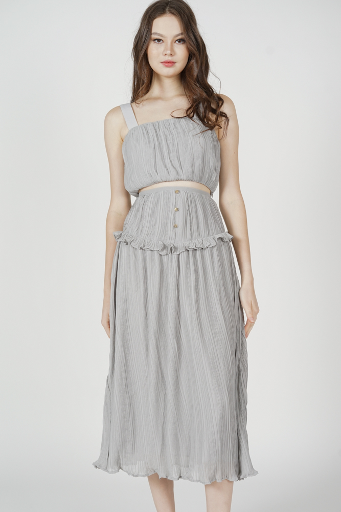 Kadnis Frill Skirt in Ash Blue - Arriving Soon