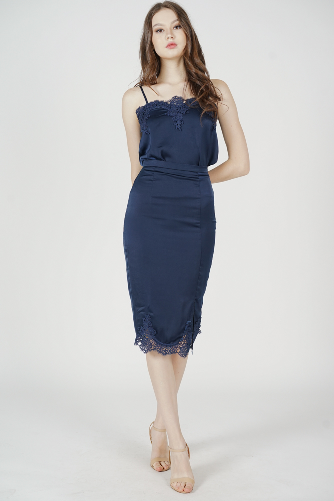 Bellona Slit Skirt in Navy - Arriving Soon