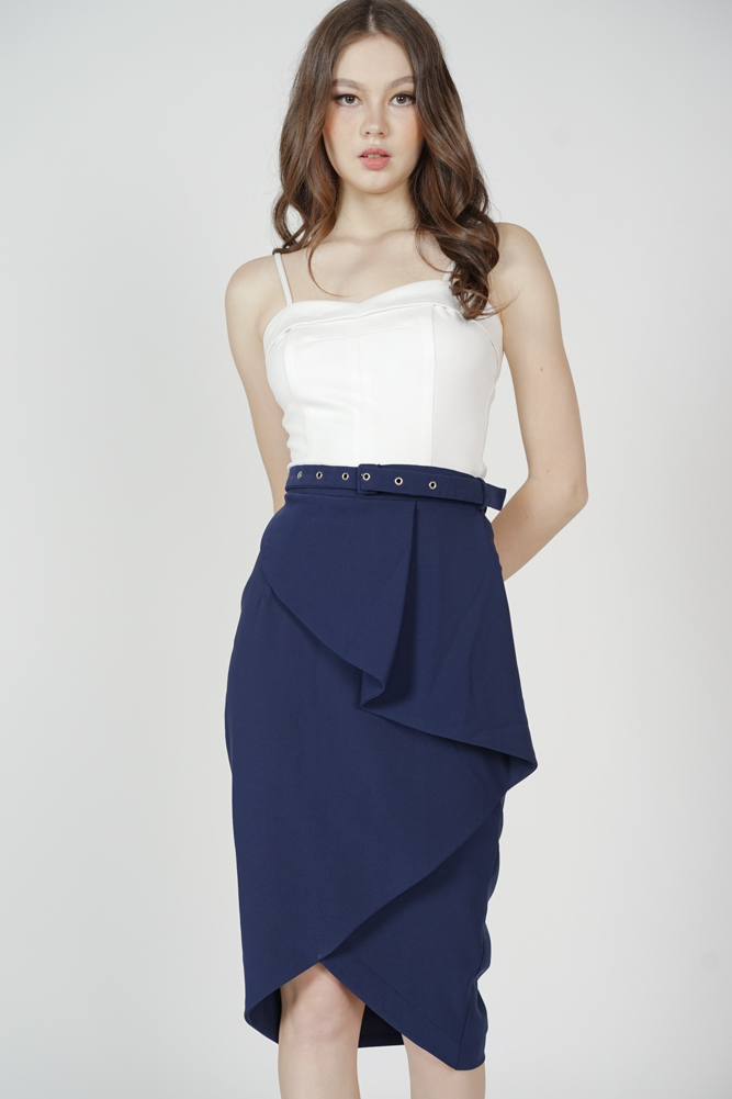 Helga Fold-Over Skirt in Midnight