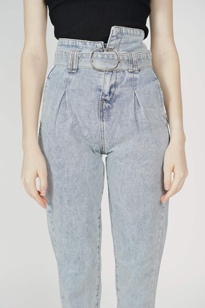 Obir Buckled Jeans in Blue - Online Exclusive