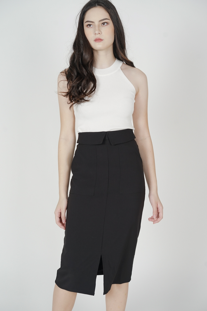 Treza Midi Skirt in Black - Arriving Soon