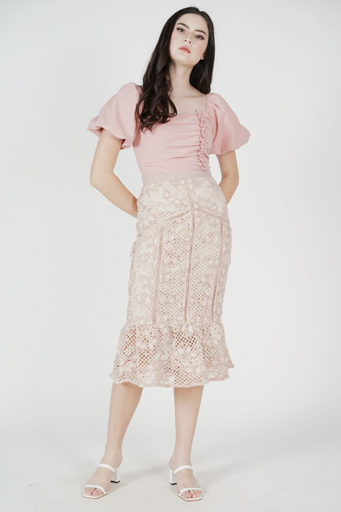 Jamein Crochet Skirt in Pink - Arriving Soon