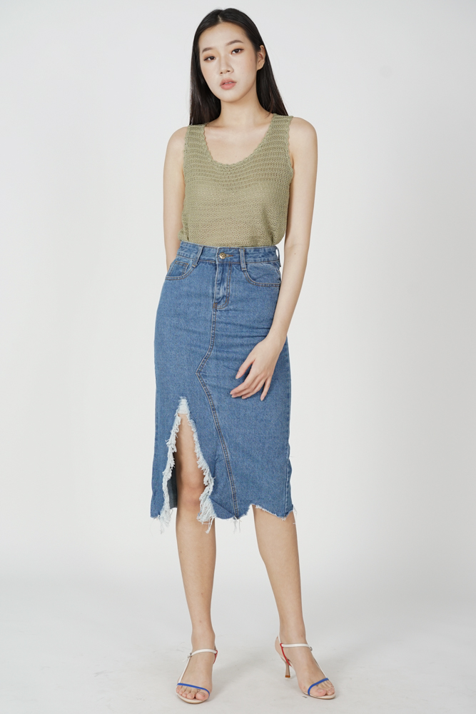 Ulina Denim Skirt in Blue - Online Exclusive