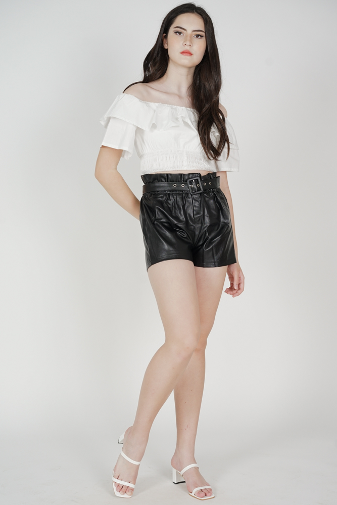 Jonita High Waisted Shorts in Black - Online Exclusive