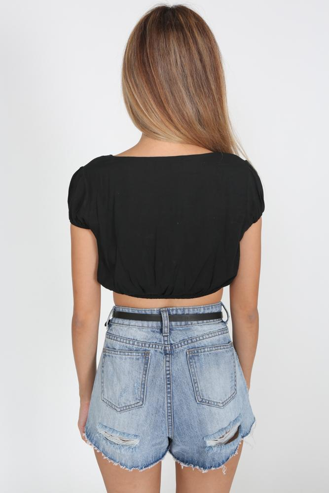 Hagne Top in Black