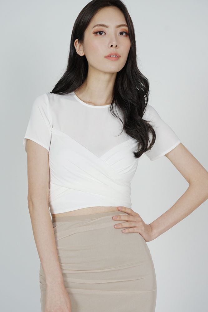 Abel Criss Cross Top in White - Arriving Soon