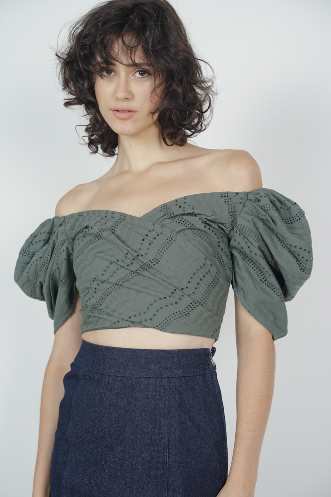 Orabelle Puffy Top in Khaki