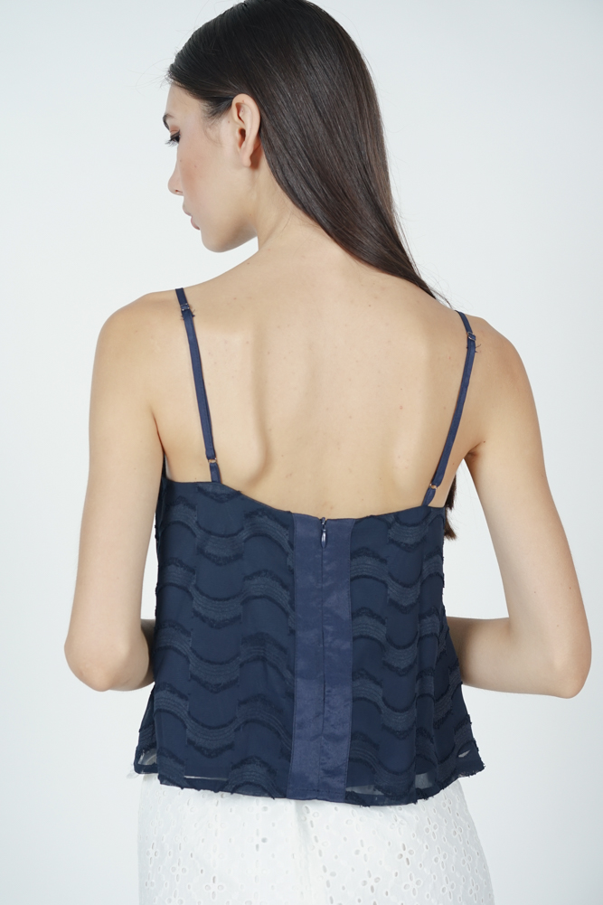 Ninna Cropped Top in Navy