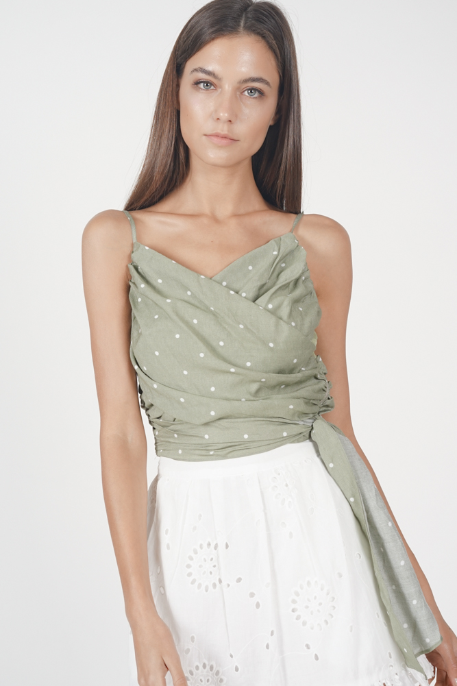Anamara Wrap Top in Lime