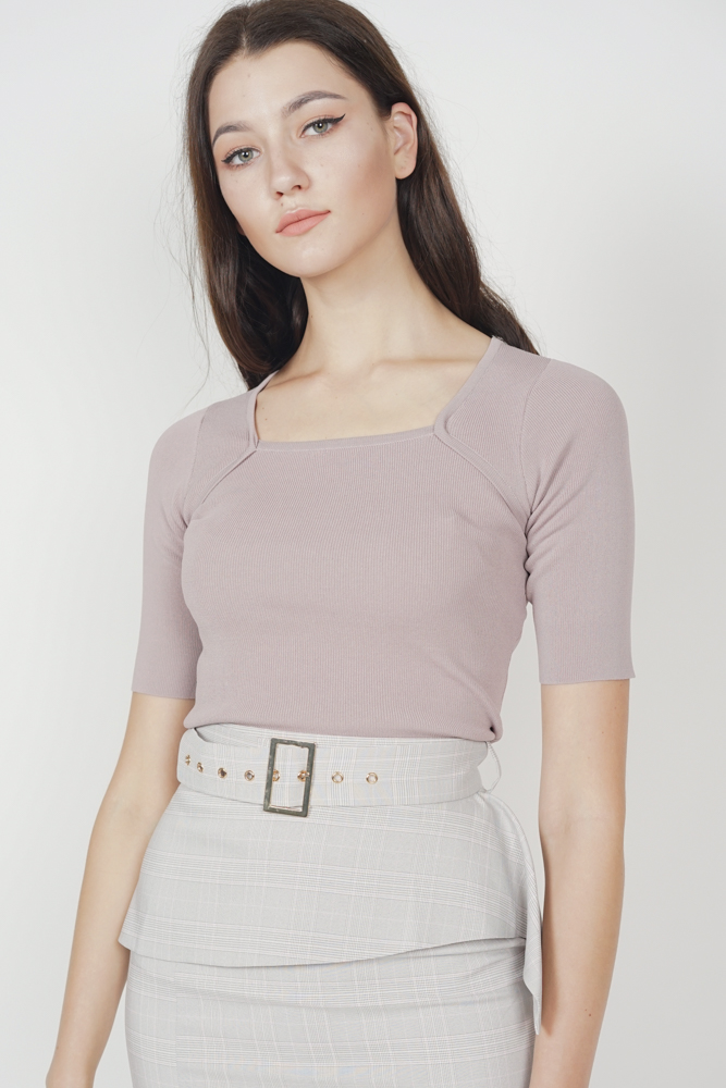 Andrea Knit Top in Mauve