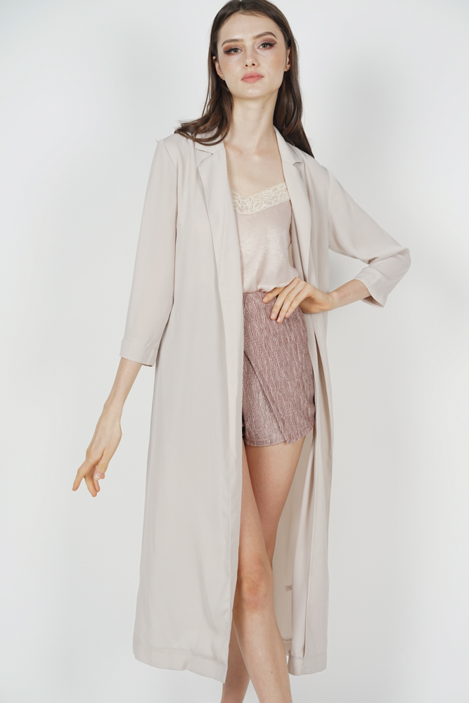 Berna Duster Coat in Nude