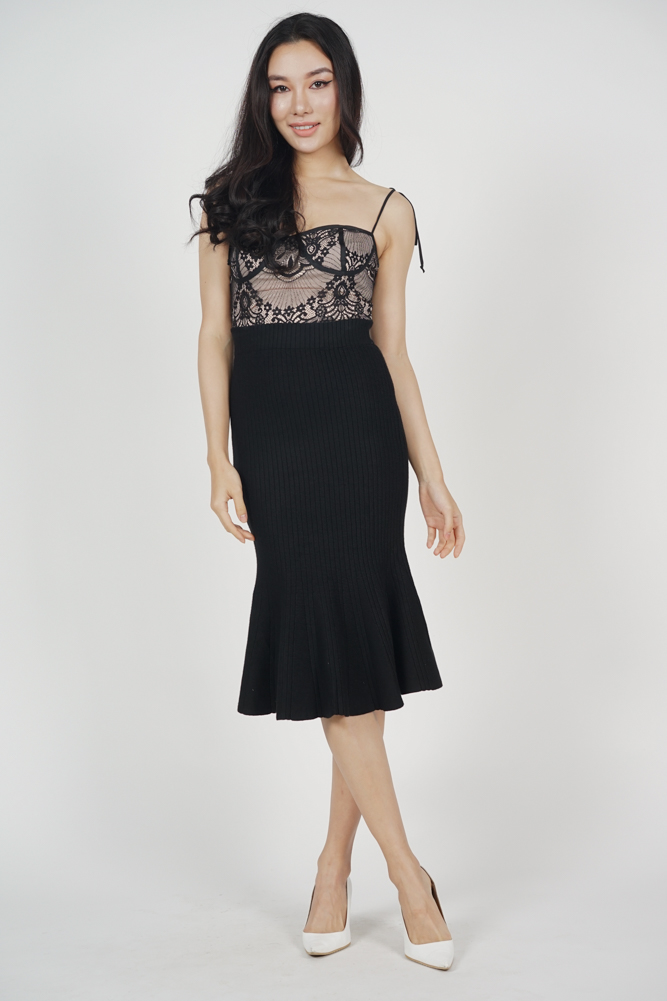 Chester Lace Cami Top in Black