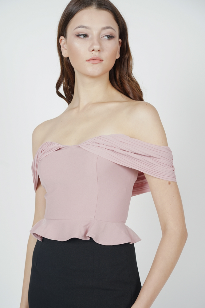 Brosie Pleated Top in Pink
