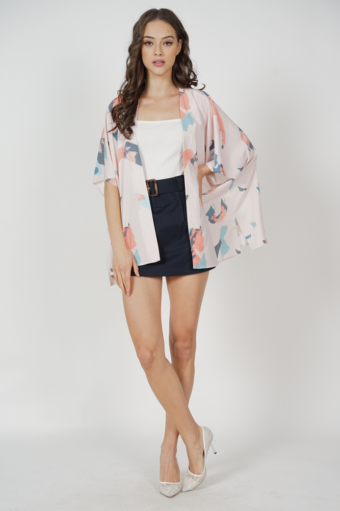 Elsar Kimono Jacket in Pink Brush - Arriving Soon